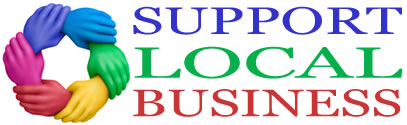 support local business logo
